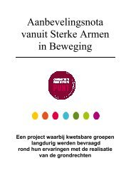 Aanbevelingsnota - Samenlevingsopbouw Gent