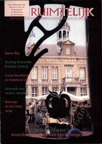 Ruimtelijk juni 2001 - Stichting Ruimte Roermond