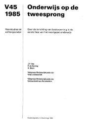 Voorstudie 45 - Wetenschappelijke Raad voor het Regeringsbeleid