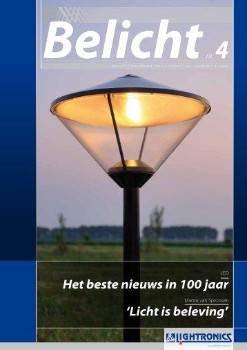 Het beste nieuws in 100 jaar 'Licht is beleving' - lightronics.nl
