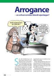 en erhvervsrisiko blandt øjenlæger? Arrogance