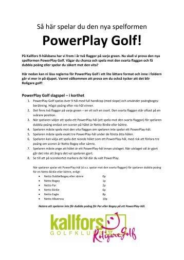 PowerPlay Golf!