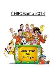 kampboekje 2013 - Chiro OndergRonse