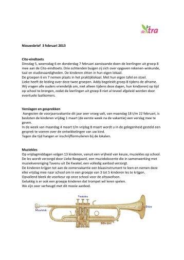 Nieuwsbrief 3 februari 2013.pdf - Zelfontwikkelingsonderwijs de Tra