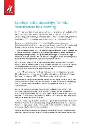 Lednings- och analysverktyg för hela Västerbottens läns ... - Infotool