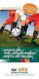 ANGEBOTE FüR SPORT- UND ... - Waldpark Grünheide