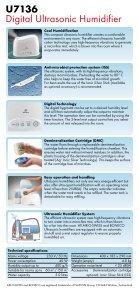 U7136 Ultrasonic Humidifier - Page 2