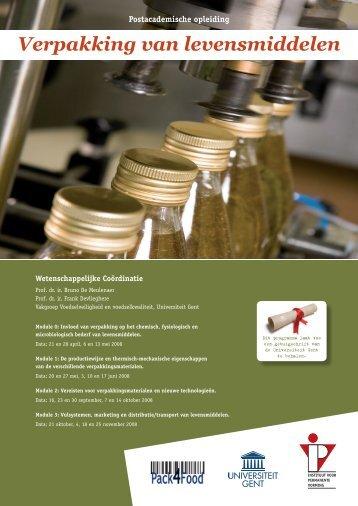 Verpakking van levensmiddelen - IVPV - Instituut voor Permanente ...