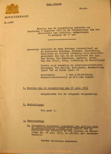 7. fier Geheim Ex »nr • Nr.6088 Notulen van de ... - Historici.nl