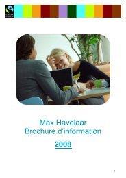 MAX HAVELAAR Brochure d'information Belgique 2008.pdf - Kauri