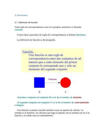 Función: Una función es una regla de ... - cursos o no. AIU