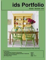 October - December 2012 - Interior Design Society