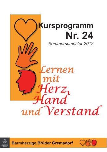 Kursprogramm (PDF) - Barmherzige Brüder Gremsdorf
