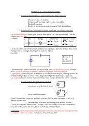 Chapitre 1 - Le circuit électrique simple. 1. Comment faire briller une ...