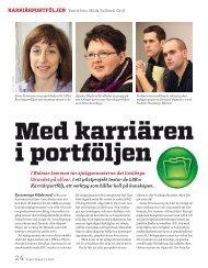 Med karriären i portföljen, nr 2, 2013 - LSR