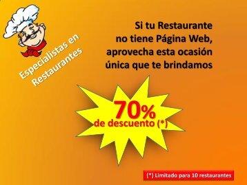 Presentación Oferta Web para Restaurantes