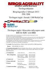 Tävlingsinbjudan Bergslagsrallyt 2 februari 2013 ... - Race Consulting
