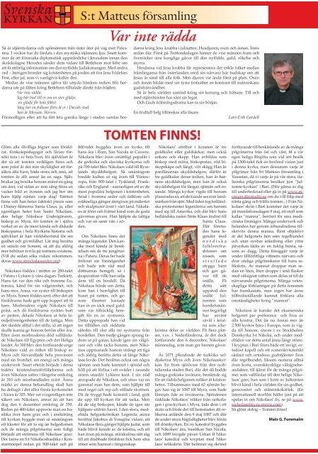 Mikaelstrffen - S:t Matteus frsamling - Svenska kyrkan