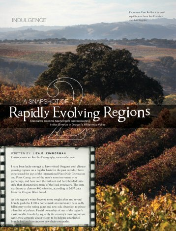 Rapidly Evolving Regions - Liza - The Wine Chick