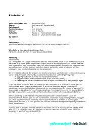 A - Vaststellen van het nieuwe tarievenboek 2013 en de leges ...