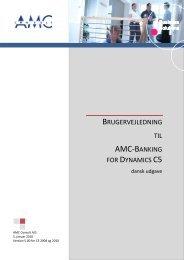 Setup guide - AMC Consult