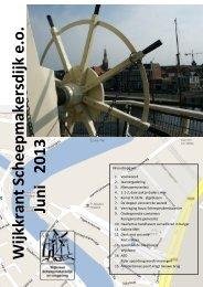 Juni 2013 Wijkkrant Scheepmakersdijk e.o. - Wijkraad ...