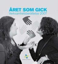 Verksamhetsberättelse 2007 - Kvinna till kvinna