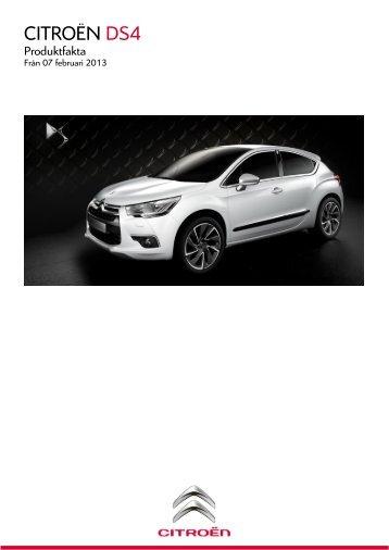 Produktfakta - Citroën