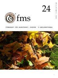 FMS tidning nr 24.pdf - Förbundet för Musikterapi i Sverige