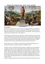 Kirkenyt for Tingsted sogn - marts - april - maj 2011 - Tingsted kirke