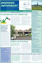 Constantijnschool wint 'DRAAK' prijs Heffen van de Vosbrug