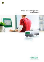 E tool och Corrigo Web - regin