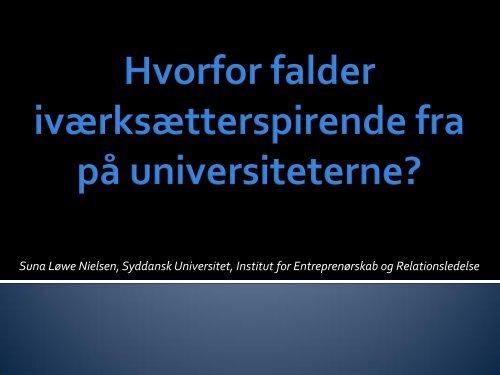 Hvorfor falder iværksætterspirende fra på universiteterne? - Idea