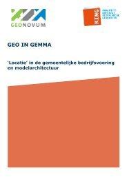 Rapport Geo in GEMMA hier - Binnenlands Bestuur