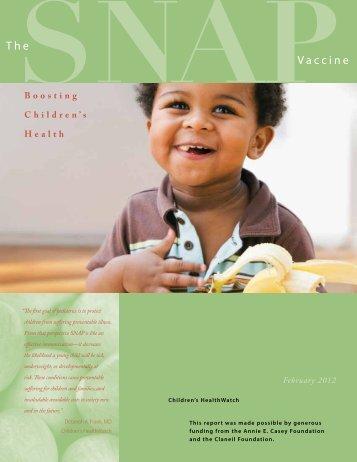 The SNAP Vaccine - Children's HealthWatch