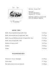 Bekijk hier onze prijslijst (in PDF-formaat) - Café 't Centrum