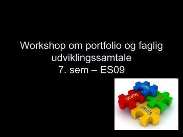 slides om portfolio og SUS