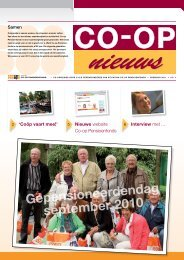 Gepensioneerdendag september 2010 - Co-op Pensioenfonds