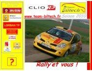 Rally'et vous ! - Team-biltech.fr