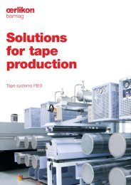 Solutions for tape production: FB9 - Oerlikon Barmag - Oerlikon Textile