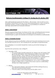 Referat af medlemsmøde i Jyllinge FC tirsdag den 25. oktober 2007