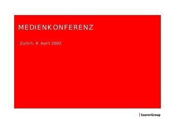 Unternehmen in CHF Mio. Anteil Pos. Haupt ... - Oerlikon Barmag