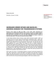 GROWING DEMAND FOR TRANSMISSION ... - Oerlikon Barmag