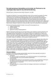 De medicamenteuze behandeling van de ziekte van Parkinson en ...