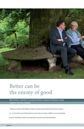 Better can be the enemy of good - Change - november - nummer 20