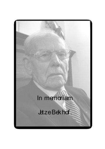 <b>Personal Page</b> Thijs Bekhof - in-memoriam-jetze-bekhof-personal-page-thijs-bekhof
