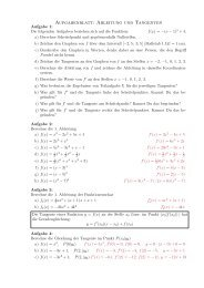 Aufgabenblatt: Ableitung und Tangenten