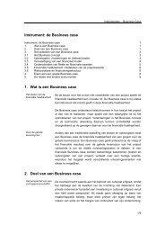 Meer informatie over de opbouw van een Business case - Belvedere