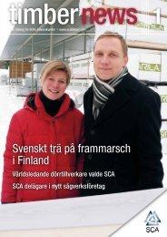 Svenskt trä på frammarsch i Finland