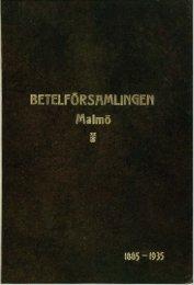 Betelförsamlingen 50 år 1885-1935 - Svenska Missionskyrkan